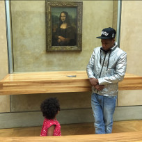 Jay Z and Blue Ivy: Mona Lisa Chillin'