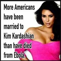 Kim kardashian vs ebola