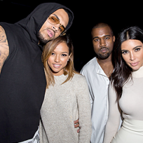 Kim kardashian kanye west chris brown karrueche tran