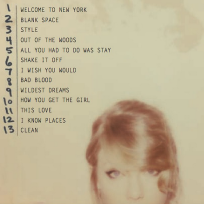 Taylor Swift Track List