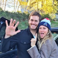 Tom brady and gisele bundchen trash talk photo