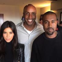 Barry Bonds, Kim Kardashian and Kanye West