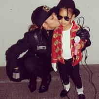 Beyonce and Blue on Halloween