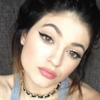 Kylie jenners plump lips