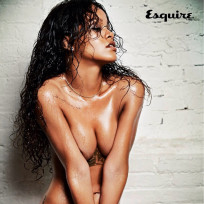 Rihanna topless for esquire