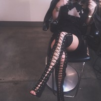 Kylie jenner stripper boots photo
