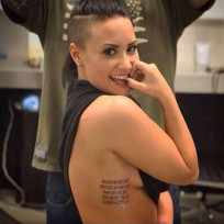 Demi lovato tattoo photo