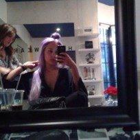 Amanda bynes purple hair photo