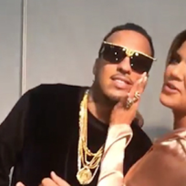 Khloe kardashian and french montana in africa