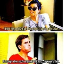 Scott disick on kim kardashians marriage