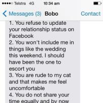 Amazing break up text