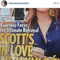 Khloe instagram to scott