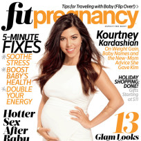 Kourtney kardashian fit pregnancy cover