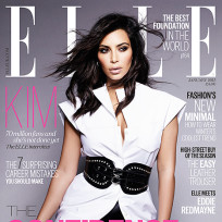 Kim kardashian elle uk cover