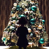 Celebrities decorate for the holidays blue ivy