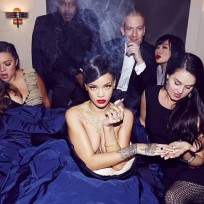 Rihanna naked weed smoking photo