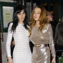 Lindsay and ali lohan loaded in london