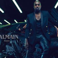 Kim and kanye for balmain