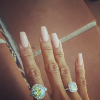Karrueche tran engagement ring