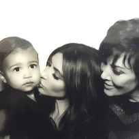 Kim kardashian kris jenner and north west