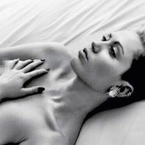 Topless miley cyrus photo