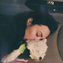 Demi lovato and puppy