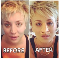 Kaley cuoco nose job photo