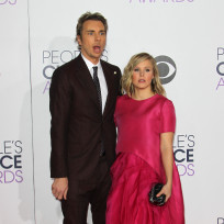 Dax shepard and kristen bell at the peoples choice awards
