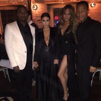 Kim kardashian kanye west john legend and chrissy teigen