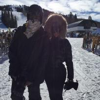 Kimye on the slopes
