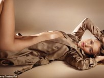 Rosie Huntington-Whiteley Strips Down for Burberry