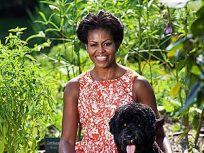 Michelle Obama and Bo Pose For White House Photo