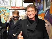 David Hasselhoff Joins Protest Against Berlin Wall Destruction