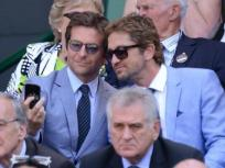 Gerard Butler and Bradley Cooper Snap Selfie at Wimbledon
