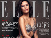 Eva Longoria: Nude with Crystals for Elle!