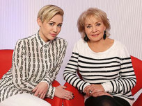 Miley Cyrus and Barbara Walters