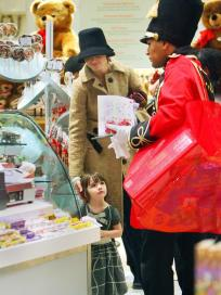 Suri Cruise Plays Toy Soldiers