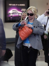 Britney Spears Walks Through Airport