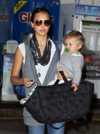 Jessica Alba and Baby Honor Marie