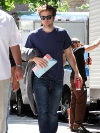 Robert Pattinson on Set