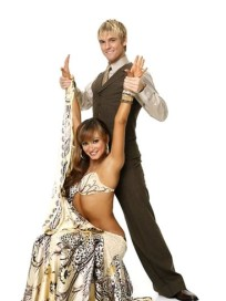 Karina Smirnoff and Aaron Carter