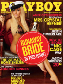 Crystal Harris Playboy Cover: Runaway Bride Edition!