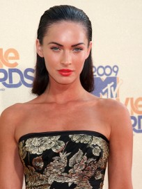 Megan Fox Slicked Back Hair