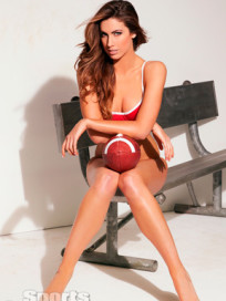 Katherine Webb with a Ball