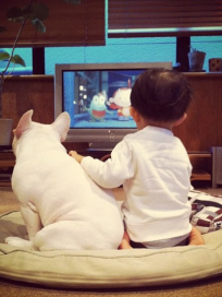 Boy and Bulldog