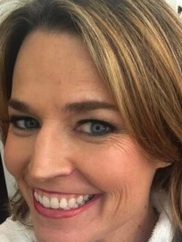 Savannah Guthrie as a Blonde