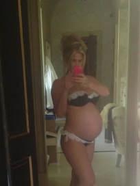 Kim Zolciak Pregnant Selfie