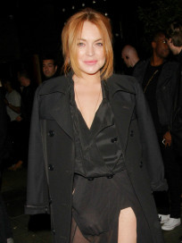 Lindsay Lohan: See through Skirt Photo