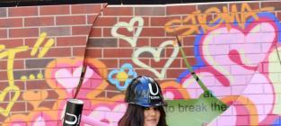 Hard hat fake sledge hammer