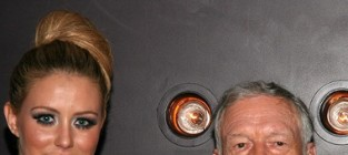 Aubrey O'Day and Hugh Hefner